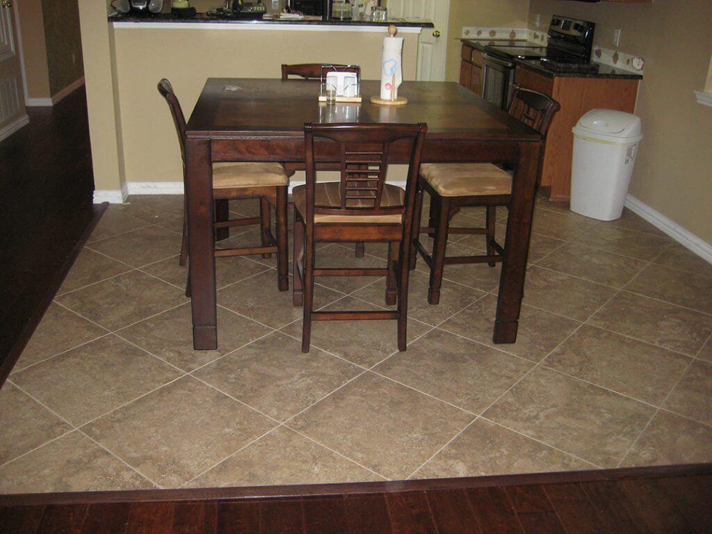 dining room encased by wood