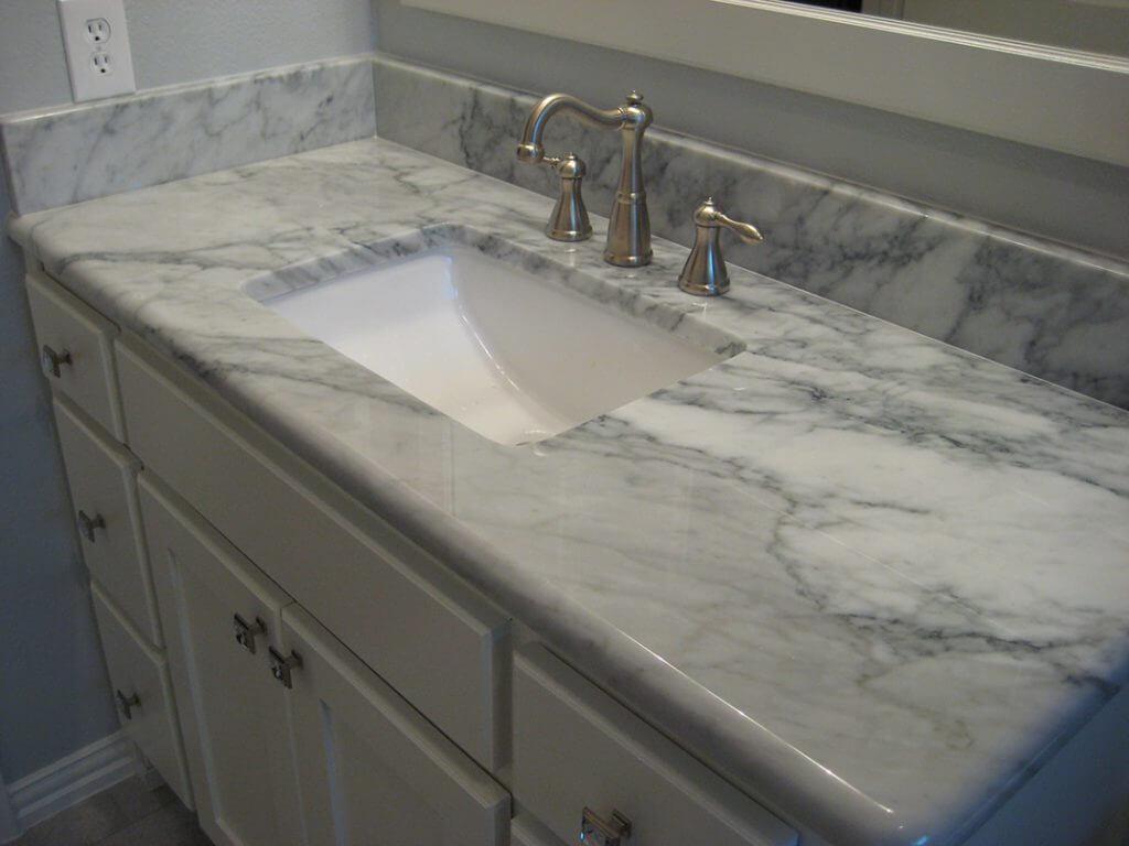 carerra marble vanity top