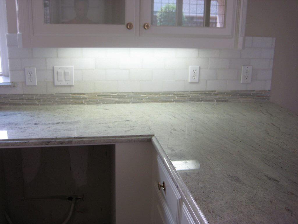 marble backsplash after