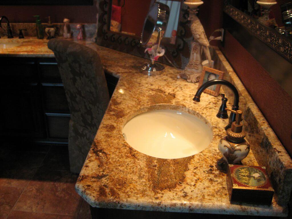 golden river granite vanity