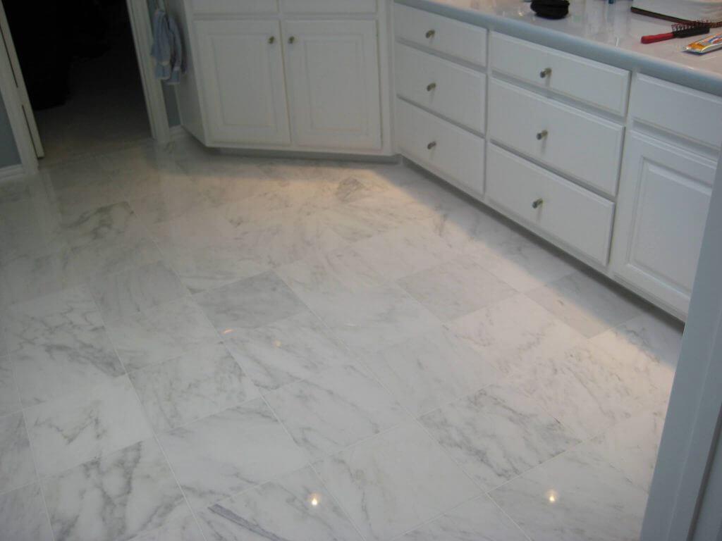 carrera marble on floor