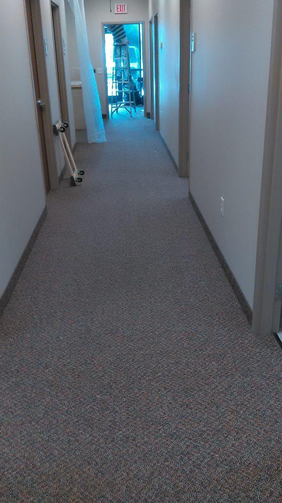 before hallway in carpet