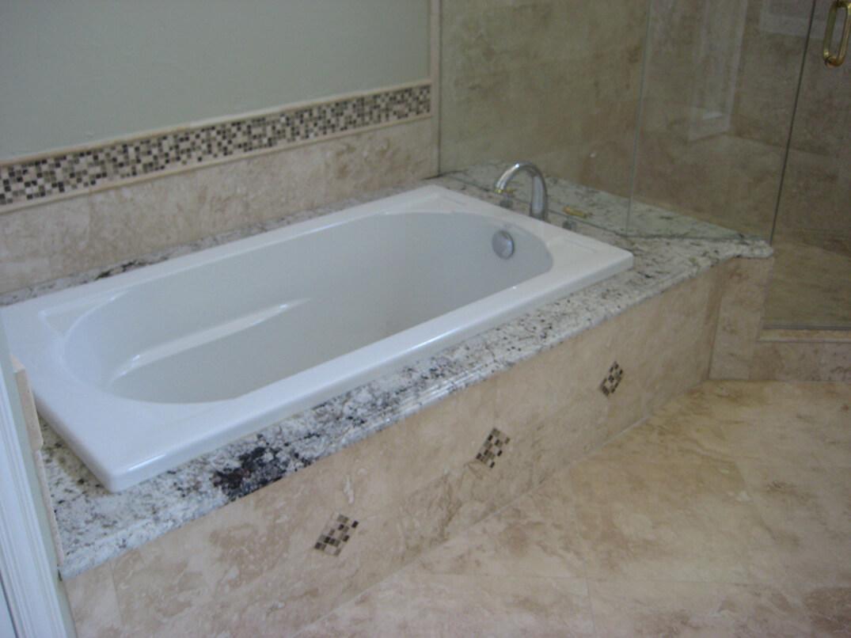 tub recessed in master bath