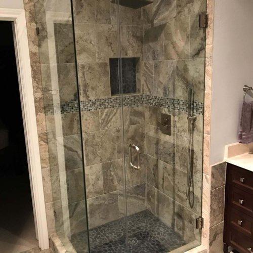 Completed Tiled Shower