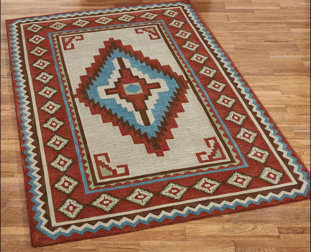 Southwestern area rug pic